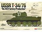 [1/35] SOVIET T-34/76 No.183 Factory (w/ 철조망 에칭)