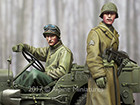 WW2 US NCO & Driver Set / 2 Figures & 4 Heads