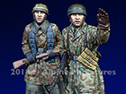 Fallschirmjaeger, Ardennes Set / 2 Figures & 4 Heads