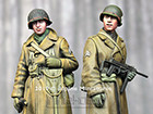 WW2 US Infantry Winter Set / 2 Figures & 4 Heads