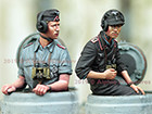 German Panzer Commander Summer Set / 2 Figures & 4 Heads