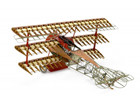 [1/16] Fokker Dr.I Red Baron's Airplane [Wooden Model]