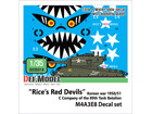 Korean war US M4A3E8 Rice's red devils Decal set (1/35 M4A3E8)