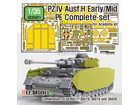 PZ.IV Ausf.H Early/Mid PE complet set (for Academy 1/35)