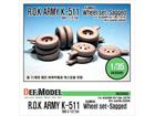 R.O.K ARMY K511 KUMHO Wheel set-Sagged for Academy K511 kit