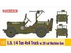 [1/6] U.S. 1/4 Ton 4x4 Truck w/.30 cal Machine Gun
