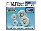 F-14D Tomcat Wheelset- Late (for TAMIYA 1/48)