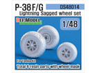 P-38 F/G Lightning Sagged Wheelset (for TAMIYA 1/48)