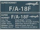NAMEPLATE - SUPER HORNET F/A-18F