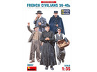 [1/35] FRENCH CIVILIANS 30-40s [RESIN HEADS]