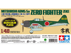 [1/48] Mitsubishi A6M5/5a ZERO FIGHTER (ZEKE) SILVER COLOR PLATED