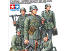 [1/35] GERMAN INFANTRY SET (MID-WWII)