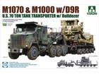 [1/72] M1070 & M1000 w/D9R U.S. 70 ton Tank transporter w/Bulldozer