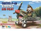 WWII UnitedStates CURTISS P-40 WARHAWK AND PILOT [CUTE SERIES TT002]