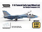 [1/32] F-14 Tomcat EarlyType wheel set (for Tamiya/Trumpeter 1/32)