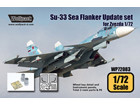 [1/72] Su-33 Sea Flanker Update set (for Zvezda 1/72)