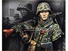 Waffen SS Young Machine Gunner 1944