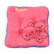 리락쿠마 도톰 사각방석 핑크