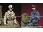 Russian Tank Commander Set / 2 Figures & 4 Heads