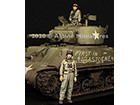 WW2 US Tank Commander Set / 2 Figures & 4 Heads