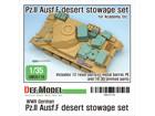 WWII German Pz.II Ausf.F Desert stowage set for Academy kit