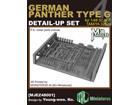 [1/48] GERMAN PANTHER TYPE G DETAIL-UP SET for TAMIYA 32520